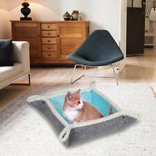 Cat Felt Bed Kitty Long Fuff Mat Pet Sleep Blanket Soft Feline Cushion W/ Button