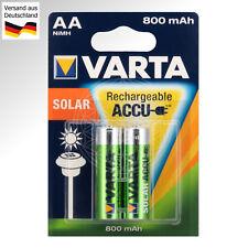 2 Varta Solaire Batterie Aa pour Lampe Luminaires de Jardin Eclairage Extérieur