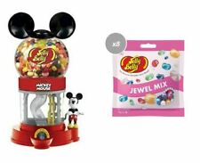 COMBO - JELLY BELLY MICKEY MOUSE DISPENSER + 8 X JEWEL MIX FLAVOURED JELLY BEANS