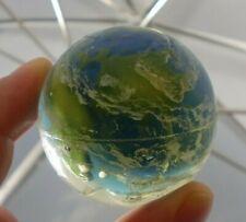 Vintage Super Bouncy Ball Planet Earth Large Globe Blue Green White