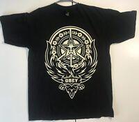 Obey Black Men's Large Graphic T Shirt Phoenix Propaganda Records