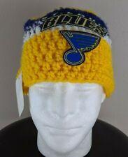 Handmade Craft St. Louis Blues Crochet Knit Beanie Hat
