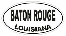 Baton Rouge Louisiana Oval Bumper Sticker or Helmet Sticker D1668 Euro Oval