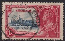 Swaziland 1935 KGV 1d Silver Jubilee SG 21 ( F1080 )
