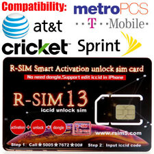 RSIM 13+ 2018 R-SIM Unlock iPhone X/8/7/6/6s/5S/ 4G iOS 10 11 12.1 RSIM13 GEVEY
