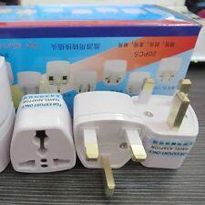 2x 3-pin US USA EU Euro AU To UK British Plug Travel Power Adapter Converter New