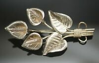 """ANTIQUE STERLING SILVER CALLA LILIES  PIN BROOCH 2.3/4"""""""