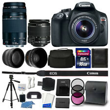 Canon EOS Rebel T6 DSLR Camera + 18-55mm + 75-300mm Lens + 16GB Accessory Kit