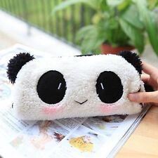 Sac Trousse Panda Peluche Scolaire Poche Stylo Crayon Maquillage Zippé Cadeau NF