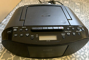 Sony CFD-S50 CD Player FM Radio Cassette Recorder Portable Stereo Boombox