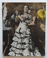 photographie belle femme danseuse de flamenco Spania Espagne vers 1930 rehaussé