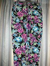 Floral Viscose Capri Pants Size 14  South BNWT
