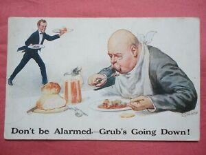 WORLD WAR ONE WW1 COMIC POSTCARD 1914 FOOD RATION GLOSTER REGIMENT PTE GOSCOMBE