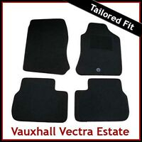 VAUXHALL VECTRA B Estate 1995-2002 Tailored Carpet Car Floor Mats BLACK