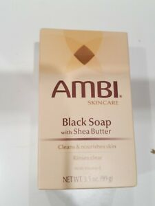 Ambi Skincare Black Soap with Shea Butter Cleans & Nourishes Skin 3.5oz