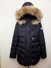 Moncler Women Jacket Parka Bomber Down Black  Coat Size 2 Authentic Hooded