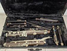 Vintage German Simple System Flute Wooden Woodwind Parts Lot