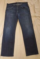 7 For All Mankind Relaxed Straight Leg Jeans in Los Angeles Dark 32 X 30