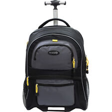 """Travelers Club Luggage Sierra Madre 19"""" Two-Toned Rolling Backpack NEW"""