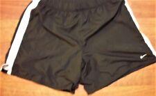 NIKE Performance Men Size LARGE  Black/White Trim Mesh Lining Athletic Shorts
