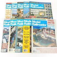 Model Railroader Magazine Train January June October 1988 Vintage HO Scale