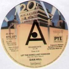"""[BARRY MANN] DAN HILL ~ LET THE SONG LAST FOREVER ~ 1978 UK """"PROMO"""" 7"""" SINGLE"""