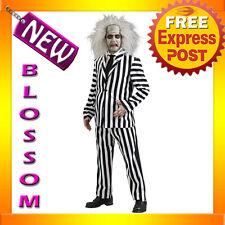 C288 Mens Licensed Beetlejuice DELUXE Fancy Scary Beetle Juice Halloween Costume