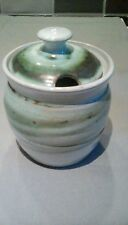 STUDIO POTTERY EARTHENWARE CONSERVE JAR WITH LID