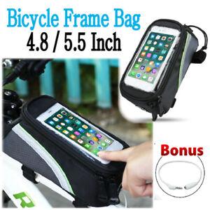 Bicycle Front Tube Frame Bag 4.8/5.5 Inch Phone Case Waterproof Bike Bag