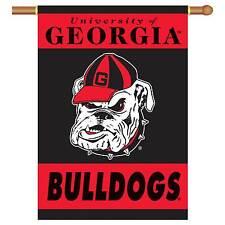 """Georgia Bulldogs House Banner 28"""" x 40"""" Sleeve 2 Sided"""