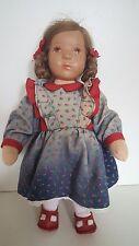 Alte Käthe Kruse Puppe verm. BETTINA Kaethe 26 cm Däumlinchen Braune Augen Zopf