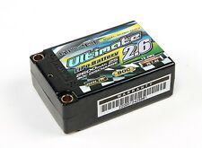 NANO-TECH ULTIMATE 2600mAh 2S 90C LIPO BATTERY 7.4V SUPER SHORTY HARDCASE ROAR
