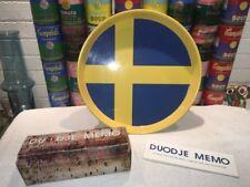 Vintage Swedish education DUODJE MEMO Game & Metal Flag Serving Tray Sweden
