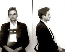 "Johnny Cash Mugshot El Paso Texas 1965 Man in Black-17""x22"" Fine Art Print-00245"