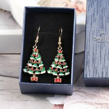 1 pair Christmas Tree Pendant Ear Stud Jewelry Women Metal Stud Fashion Gift Hot