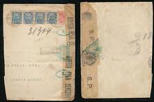 BRAZIL WW1 CENSOR 1918 on PART ENVELOPE REGISTERED