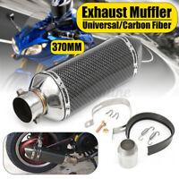 38mm-51mm Silencieux d'échappement Fibre Carbone Amovible Dirt Bike Moto Quad