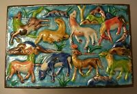 Old Chinese Repousse Enamel Horses Design Humidor Box