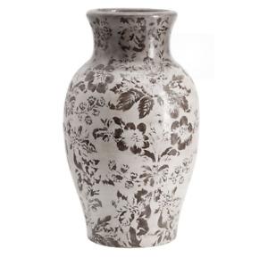 Collette Floral Vase Gray Large