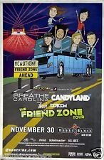 "BREATHE CAROLINA / CANDYLAND ""FRIEND ZONE TOUR"" 2014 SAN DIEGO CONCERT POSTER"