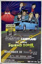 "BREATHE CAROLINA / CANDYLAND ""FRIEND ZONE TOUR"" 2014 SAN DIEGO CONCERT POSTER"