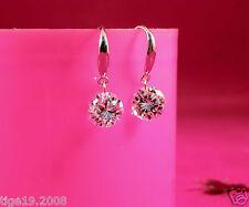 NEW Clear  Crystal  925 Sterling Silver Earrings