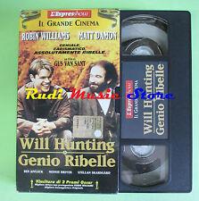 film VHS cartonata WILL HUNTING GENIO RIBELLE Williams Damon ESPRESSO(F29)no*dvd