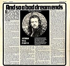 (Sds)26/1/1974Pg14 Interview & Picture - Jethro Tull Concluded