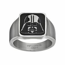 NEW Men's Darth Vader Square Top Star Wars Stainless Steel Ring - Size 10 - $100