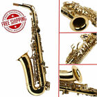 2017 New Professional Gold School Band Student Eb Alto Saxophone Sax with Case V