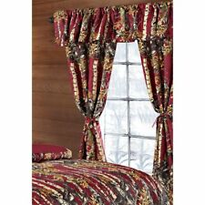 5 PC SET THE WOODS CURTAINS VALANCE DRAPES BURGUNDY WOODS CAMOUFLAGE RED