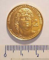 Maradona moneta da 2 ducati emessa dal Comune di Castellino del Biferno (CB)