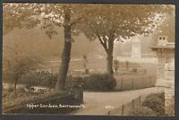 Postcard Bournemouth Dorset the Upper Gardens posted 1924 RP