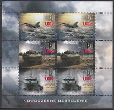 POLAND 2013 **MNH SC# (-) Sheet -  The Modern Polish Army Weapons